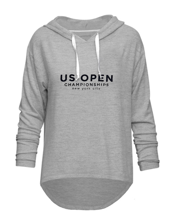 US Open Honey Hood L/S Pullover (W) Grey