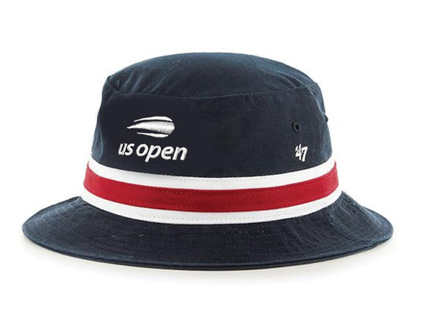 US Open '18 Striped Bucket Cap (M) Navy