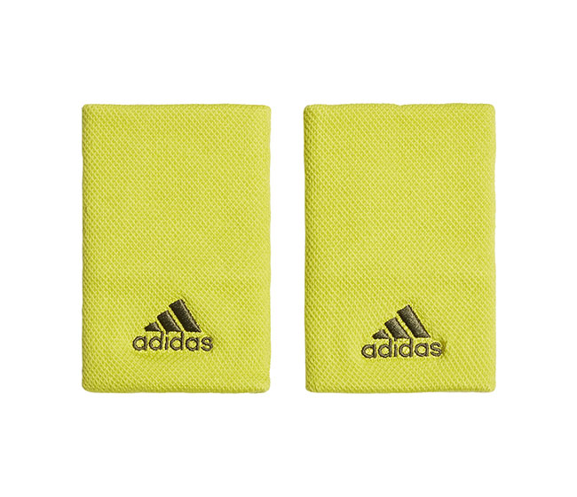 adidas Large Wristband (2X) (Yellow)