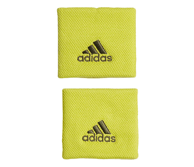 adidas Small Wristband (2x) (Yellow)