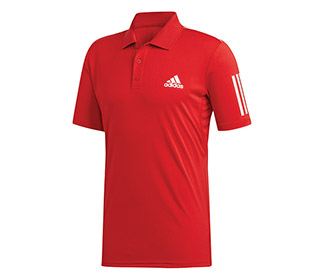 adidas Club 3 Stripe Polo (M)