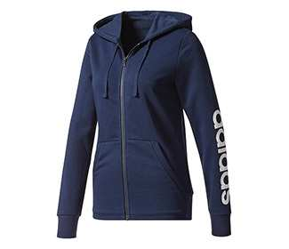 Adidas Essentials Linear Full-Zip Hoodie (W)