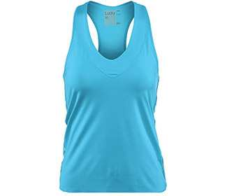 Lucky in Love-V-Neck Tank with Bra (W)