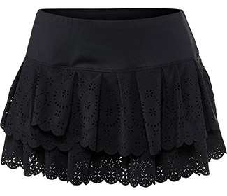 Lucky-Laser Pleat Tier Skirt