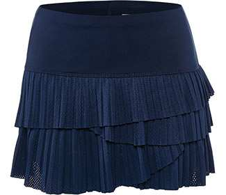 Lucky-Pindot Pleat Scallop Skirt