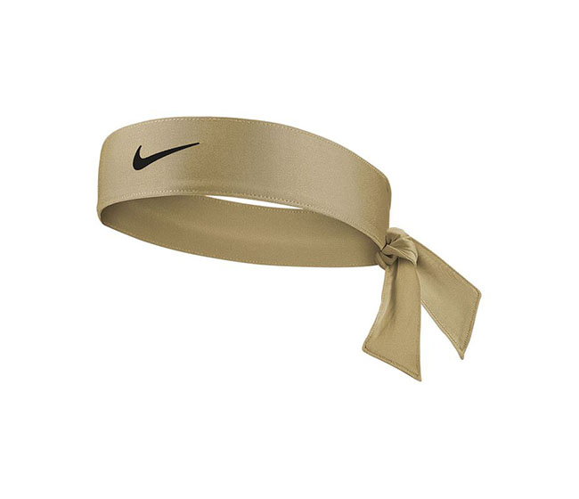 Nike Women's Tennis Premier Head Tie (Beige/Black)