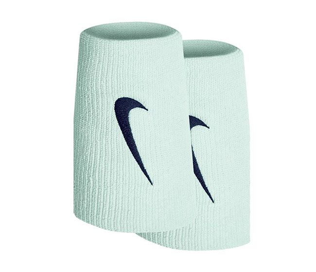 Nike Tennis Premier Double Wristbands (2x) (Light Green/Blue)