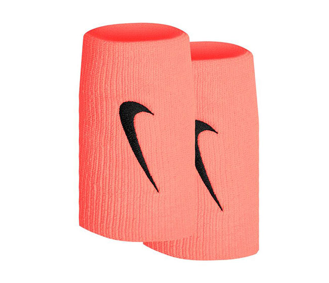 Nike Tennis Premier Double Wristbands (2x) (Bright Orange/Black)