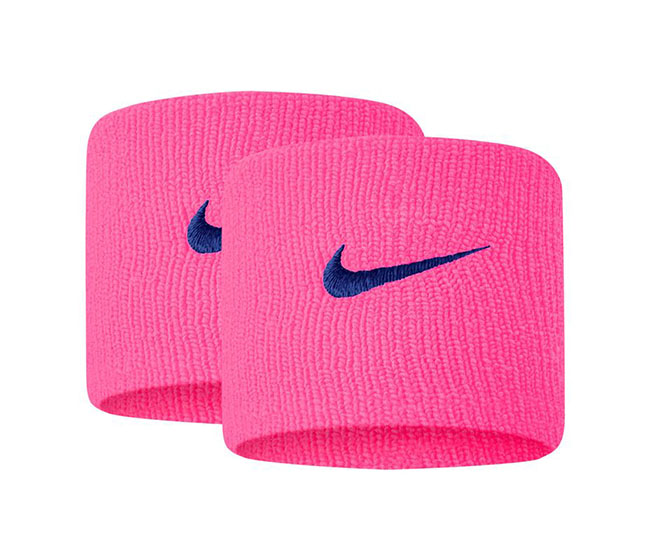 Nike Tennis Premier Wristbands (2x) (Pink/Royal)