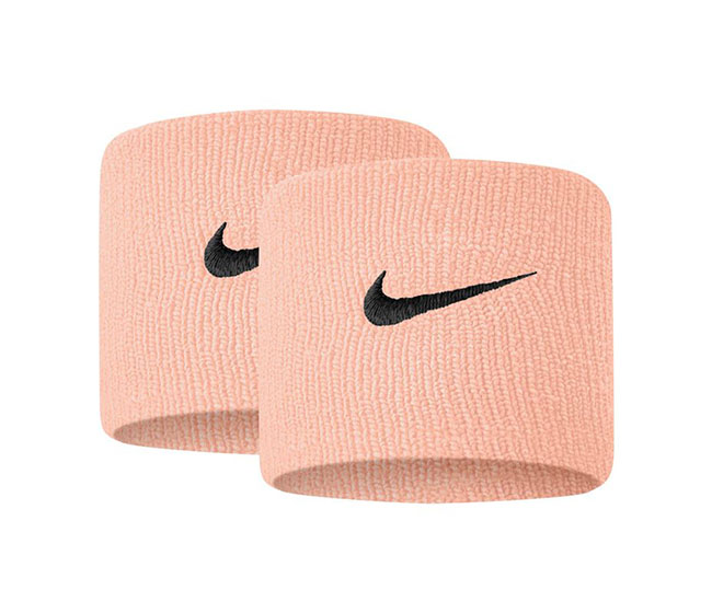 Nike Tennis Premier Wristbands (2x) (Light Orange/Black)