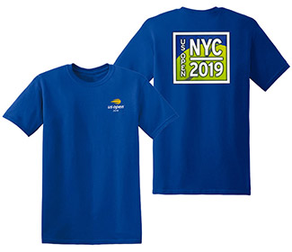 US Open 2019 NYC Tennis Ball Tee (M) Royal