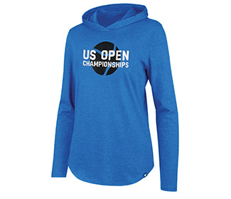 US Open Club Hooded L/S Pullover (W) Blue