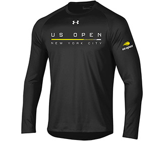 US Open Under Armour NYC Tech L/S (M) Black