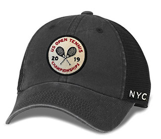 US Open 2019 Raglan Bones Cap (M) Black