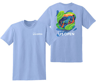 US Open 2019 Theme Art Tee (M) Carolina Blue