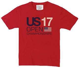 US Open 2017 Championship Flag Tee (M) Red