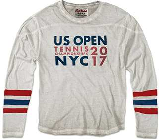 US Open 2017 Stacked Longsleeve Tee (M) White