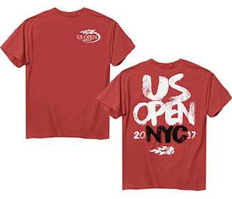 US Open 2017 Paint Stack Tee (M) Red