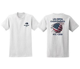 US Open 2018 Flag Ball Tee (M) Whit