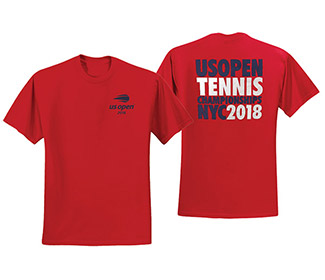 US Open 2018 Bold Tee (M) Red