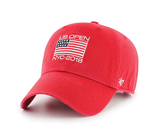 US Open '18 Flat Clean Up Cap (M) Red