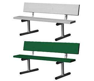 5' Aluminum Tennis Court Bench
