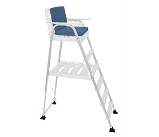 Umpire Chair-White Enamel Finish/White Frame
