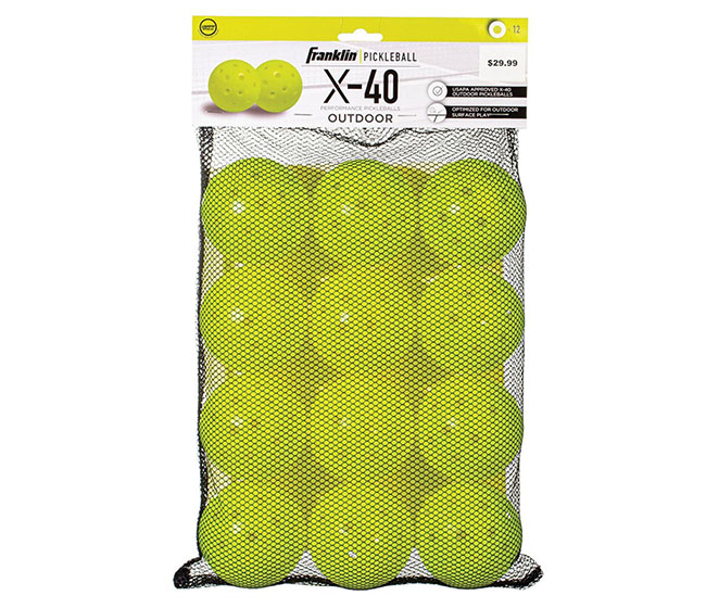 Franklin X-40 Pickleball (12x)(Optic Yellow)
