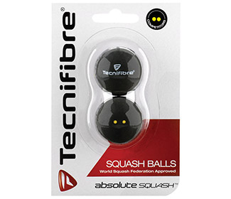 Tecnifibre Double Yellow Dot Squash Ball (2x)
