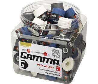 Gamma Pro Wrap Overgrip Jar (60x) Assorted