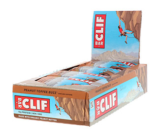 Clif Bars - Peanut Toffee (12/Case)