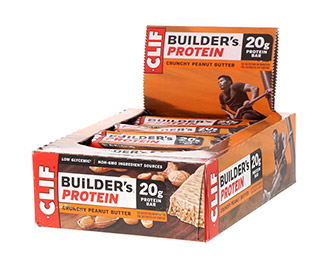 Clif Bar Builders (Crunchy Peanut Butter) (12/Case)