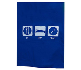 Eat Sleep Tennis Stadium Blanket (Royal)