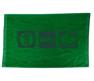 Eat Sleep Tennis Towel (Green)