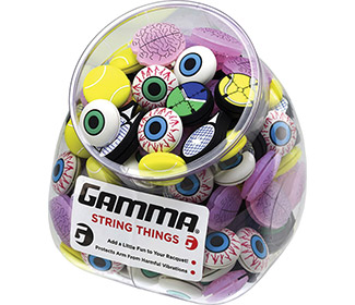 Gamma String Things Jar (60x) Eye/Racquet/Bal