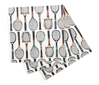 Tennis Racket Cocktail Napkins (20x)