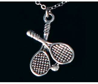 Crossed Racquet Necklace