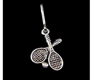Crossed Racquet Zipper Pull