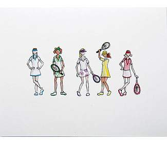 "Note Cards ""Tennis Team"" (10x)"