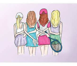 "Note Cards ""Tennis Girls"" (10x)"