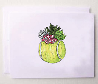 "Note Cards ""Tennis Greens"" (10x)"