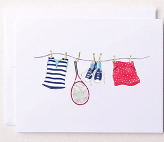 "Note Cards ""Tennis Line"" (10x)"