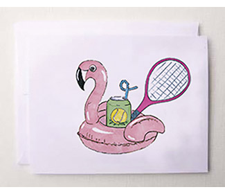 "Note Cards ""A Day By The Pool Tennis"" (10x)"