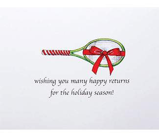 "Holiday Cards ""Holiday Racquet"" (10x)"