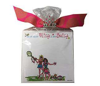 Tennis Notepads (Bling in the Swing)