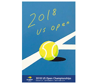 US Open 2018 Theme Art Poster