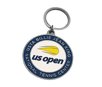 US Open Circle Key Ring (Silver)