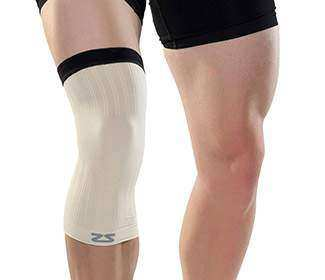 Zensah Compression Knee Sleeve (1X) Beige