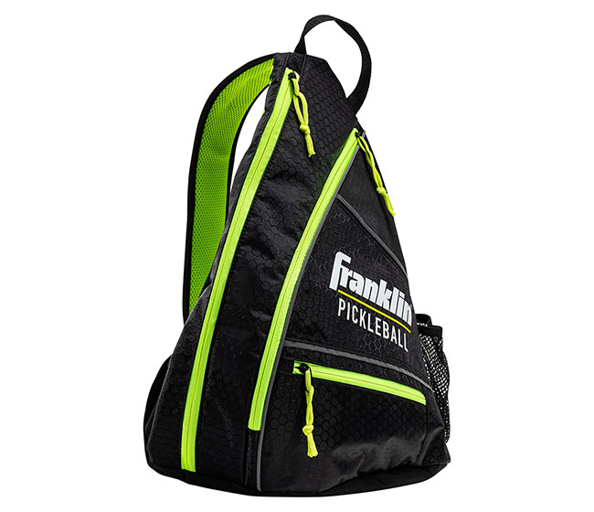 Franklin Pickleball Sling Bag (Black/Optic Green)