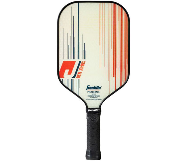 Franklin Ben Johns Pro Player Pickleball Paddle (13mm) (White)